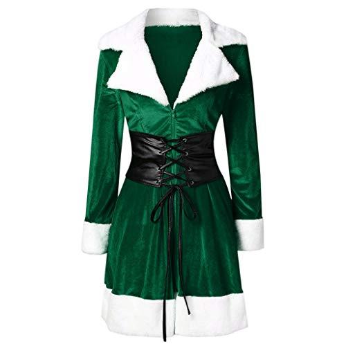 Check Out This jin&Co Christmas Dresses for Women Velvet Plus Size Long Sleeve Vintage Lace Up Cas...