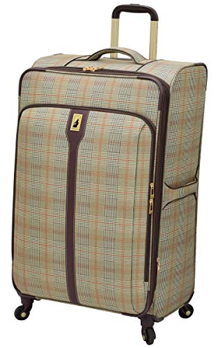 London Fog Knightsbridge Hl 29' Expandable Spinner, Grey/Navy Plaid