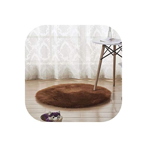 Wool Rugs and Carpets for Home Living Room Bedroom Bath Shaggy Carpet Mats,N