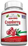 TRIPLE STRENGTH Cranberry Concentrate Supplement Pills For Urinary Tract Infection UTI. Equal To 12600mg Fresh Cranberries. Promote Kidney Bladder Health For Men And Women. Easy To Swallow Softgels by NOVA SUN, LLC