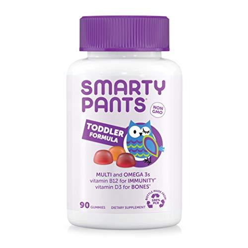 SmartyPants Toddler Formula Daily Gummy Multivitamin: Vitamin C, D3, &...