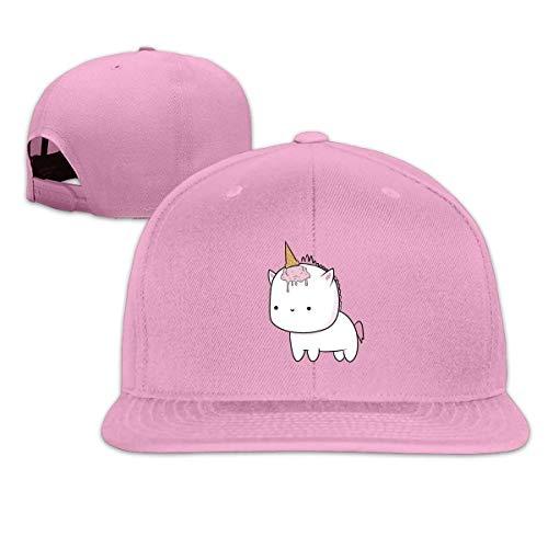Unisex Pink Unicorn Snapback Hats Classic Adjustable Baseball Cap Hip Hop Dad 100% Cotton Flat Bill Ball Hat