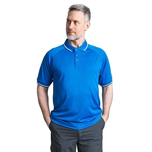Trespass BONINGTON Tee-Shirt antimoustique-séchage Rapide-Protection UV, Bleu Clair, m Homme