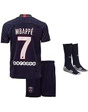 Paris Mbappe #7 2020/21 thuisshirt shorts en sokken kinderen en jongeren maat (thuis)
