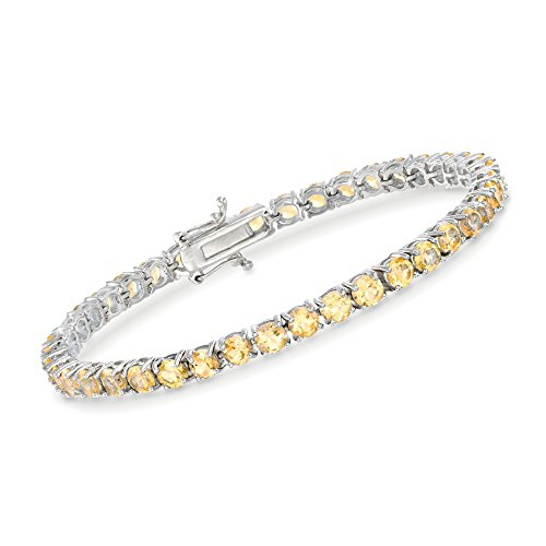 Ross-Simons 8.25 ct. t.w. Citrine Tennis Bracelet in Sterling Silver. 7 inches
