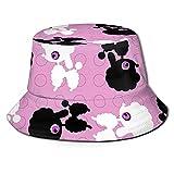 Sfondi Bambini Travel Beach Fischerkappe Wendbare Hüte mit breiter Krempe Unisex Schwarz