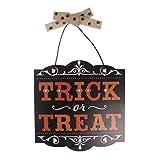 ecmqs Halloween, de los caramelos o un sort, placa de techo de madera, Condecoraciones para puertas colgantes de Halloween, Torre de accesorios de fiesta de Halloween, para la casa/escuela/Oficina