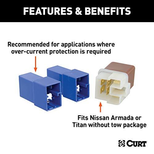 CURT 57000 Relay Kit for Nissan Armada, Titan