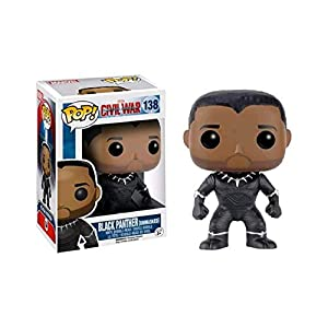 Funko Pop Black Panther sin máscara (Capitán América: Civil War 138) Funko Pop Capitán américa