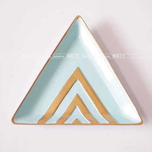 IGLZ Resina Creativa Joyas Cosméticos Plato de Almacenamiento Placa Hexagonal Triangular Ovalada Lápiz Labial Pendientes Bandeja de Anillo Decoración para el hogar Manualidades Regalo para Novia