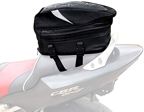 AnXin Sac de selle de moto, sac de selle étanche multifonctionnel en cuir PU, sac de rangement pour casque de moto, sac à dos, sac de rangement, sac d'équitation, 18,5 litres