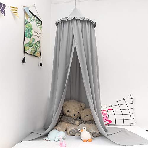 Betthimmel baby bett Baldachin Moskiton für Schlafzimmer Moskitonetz Insektenschutz Kinder Prinzessin Spielzelte grau