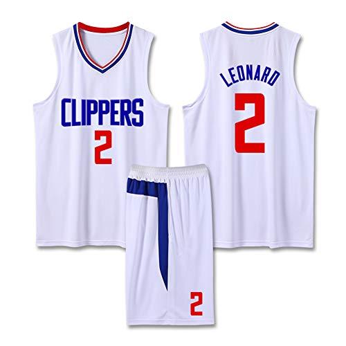 Z/A Kawhi Leonard # 2 Clippers Basketball Uniformen Student Wettbewerb Ausbildung Uniformen Los Angeles Atmungs Trikot,XL