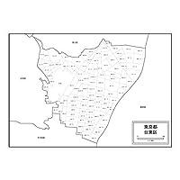 東京都台東区の白地図 A1サイズ 2枚セット