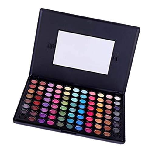 perfeclan Coffret Maquillage Palettes Fard à Paupières 88 Couleurs Matte Imperméable avec Miroir - 7001-489mt