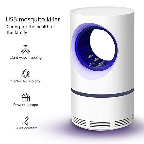 HHJ Lámpara Fotocatalitico Antimosquitos, USB Electronico Fotocatalizador Asesino De Mosquitos, Luz Ultravioleta Mosquitos Killer, Lámpara Anti Mosquitos, Niños Seguros