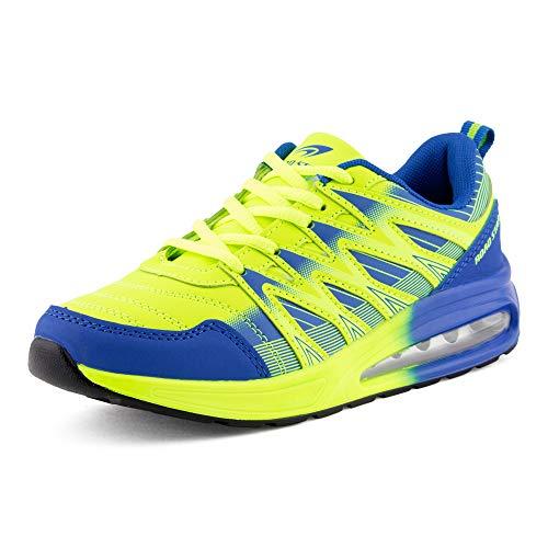 Fusskleidung Herren Damen Sportschuhe Sneaker Dämpfung Laufschuhe Übergröße Neon Jogging Gym Unisex Schwarz Orange Blau EU 38
