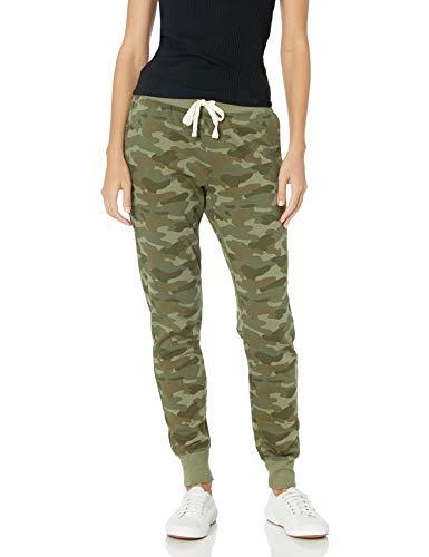 Amazon Essentials Women's French Terry Fleece Jogger Sweatpant, Green Camo, Small