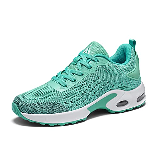 Mishansha Turnschuhe Damen Atmungsaktiv Leichtgewichts Laufschuhe Damen Sneaker Damen Sportschuhe Fitness Trainer für Outdoor Fitness Grün 39
