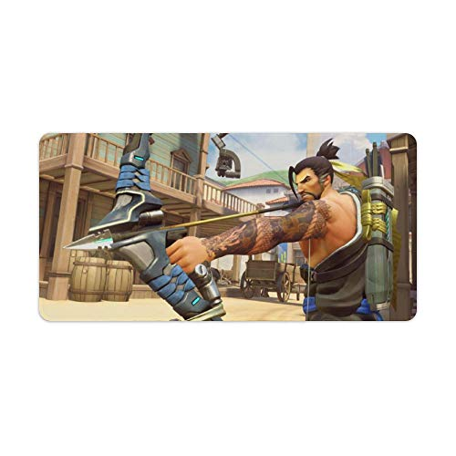 """Extended Large Gaming Mouse Pad Compatible with Overwatch Legendary Edition Non-Slip Water-Resistant Rectangular Computer Mouse Mat with Stitched Edge Rubber Base for Gamer Office Home 11.8""""x23.6"""""""