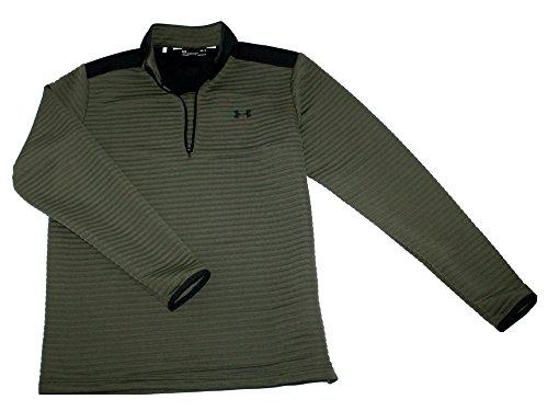 Under Armour Men's Athletic Zip Long Sleeve Golf Shirt (Green, M)
