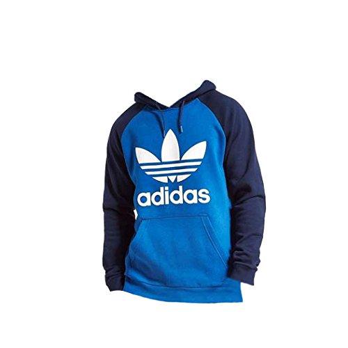 adidas Herren Kapuzenpullover blau navy blue-light blue Gr. Large, navy blue-light blue