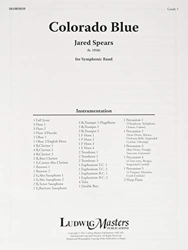 Colorado Blue: Conductor Score (Ludwig Masters)の詳細を見る