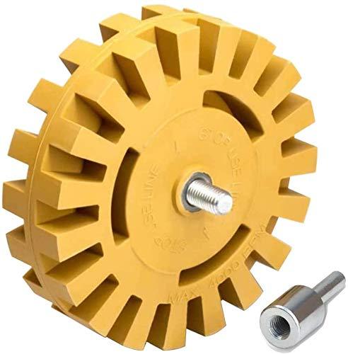 Decal Remover Eraser Wheel, GOH DODD 4 Inch Rubber Wheel Car Sticker Adhesive...