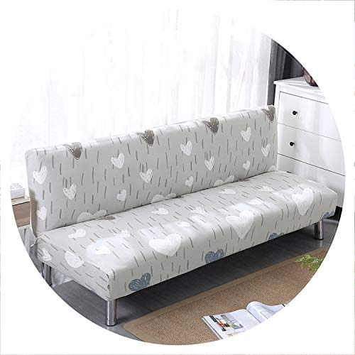 sensitives Universal Sofa Cover Stretch Big Elasticity Couch Cover Sofa Furniture Sofa Cover Without Armrest Folding Cover for Sofa Bed 1pc,Color 23,160cm to 190cm