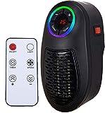 Heater Chauffage électrique|Mini-chauffage pour prise murale avec prise électrique| Chauffage de 500watts| Fonction d'horloge (1-12 heures) | un rayon de 3 à 5 mètres.