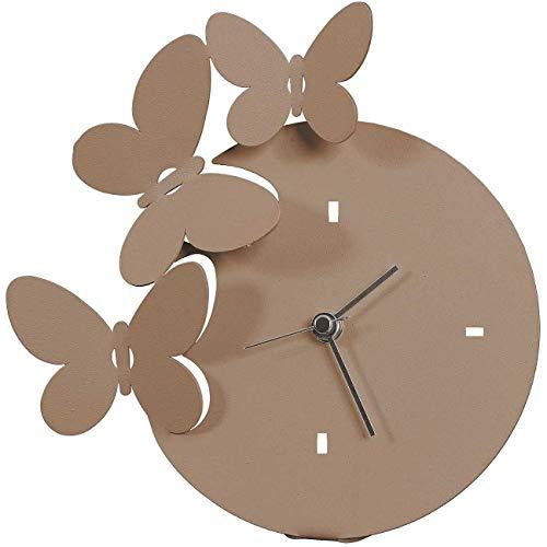 orologio da tavolo arti e mestieri ARTI E MESTIERI - Orologio Farfalle da Tavolo Beige