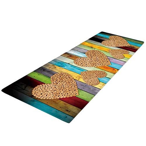 joyMerit Läufer Teppich 40x120 cm Küchenläufer Küchenteppich Teppichläufer waschbar rutschfest Bodenmatte Badvorleger - Stil-E, 40x120cm