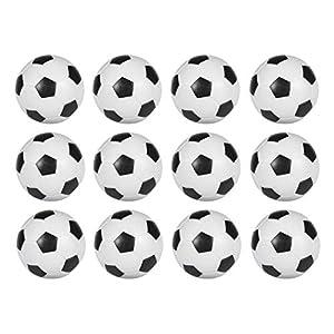 EYEPOWER Pelotas de Futbolín Ø 36 mm 21 g | Conjunto de 2 Bolas de Repuesto | Bola de plástico Duro áspero Antideslizante | Blanco: Amazon.es: Deportes y aire libre