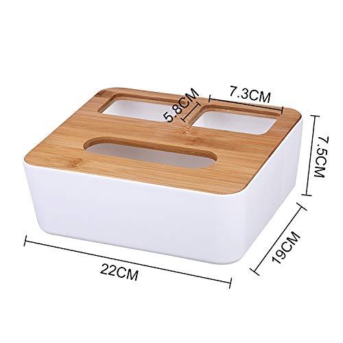 PHDFEM Scatola di Carta Scatola di Tessuto casa Soggiorno tavolino Rotolo Scatola di Carta Scatola di Carta Scatola di immagazzinaggio Sveglia telecomandataA