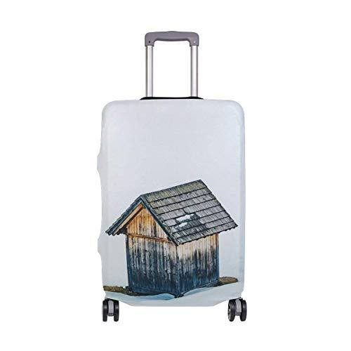 IUBBKI Funda de Equipaje de Viaje Snowy Cabin Protector de Maleta Se Adapta a Fundas de Equipaje Lavables L