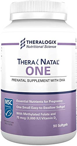 TheraNatal One Prenatal Multivitamin | 90 Day Supply | 90 Softgels | Vitamin & Mineral Supplement | Gluten-Free