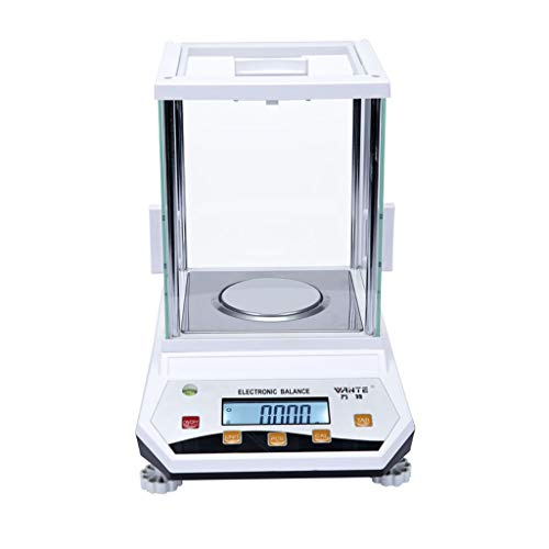 ZCXBHD Laboratorio Preciso Analítico Equilibrar Electrónico Balanzas, Laboratorio Digital Electrónico Balanzas para Químico Minerales Experimentar Oro Enseñando 0.001g (Capacity : 100g.001g)