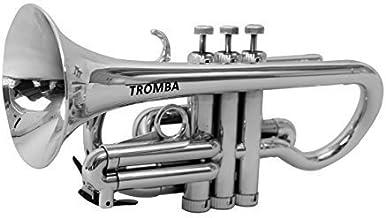 Tromba Pro Professional Plastic Bb Cornet, Silver