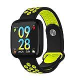 IF.HLMF Fitness-Tracker, Smart-Bluetooth-Uhr mit Schritt-für-Schritt-Übungsmodus, Herzfrequenz-Blutdruckmessung, intelligente Erinnerung, schwarz mit grün