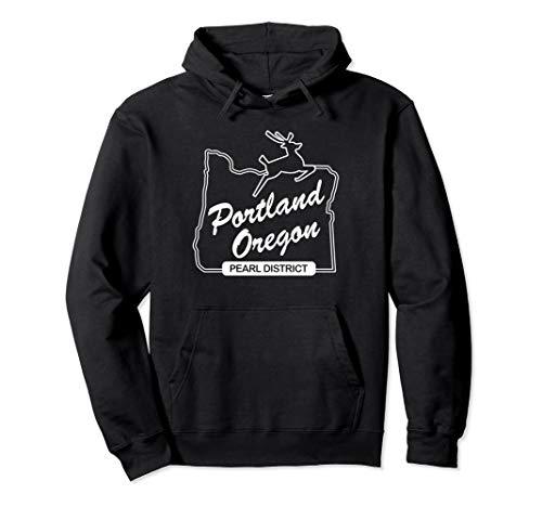 PDX Portland Oregon Sign: Pearl District - Portland Oregon Pullover Hoodie