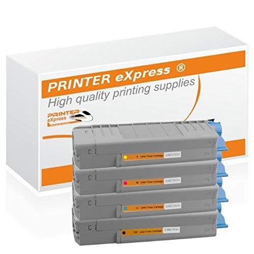 Printer-eXpress Toner 4er Set ersetzt Oki 46490608, 46490607, 46490606, 46490605 für Oki C532 C532DN C542 C542DN MC563 MC563DN MC573 MC573DN | C 532 532DN 542 542DN MC 563 563DN 573 573DN Drucker