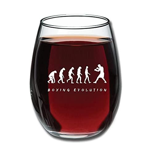 Good Touch Boxing Evolution - Copa de vino tinto (350 ml), color blanco