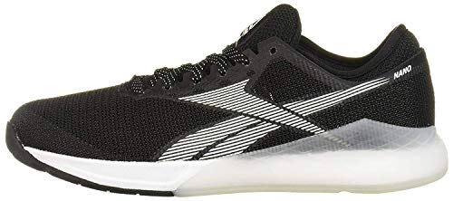 Reebok Men's Nano 9 Cross Trainer, Black/White, 10.5 M US