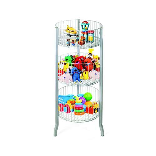3-Tier Saving Place Basket Market Basket Storage Basket Organizer Kitchen Storage Bin Bathroom Tower Baskets Laundry Organization White