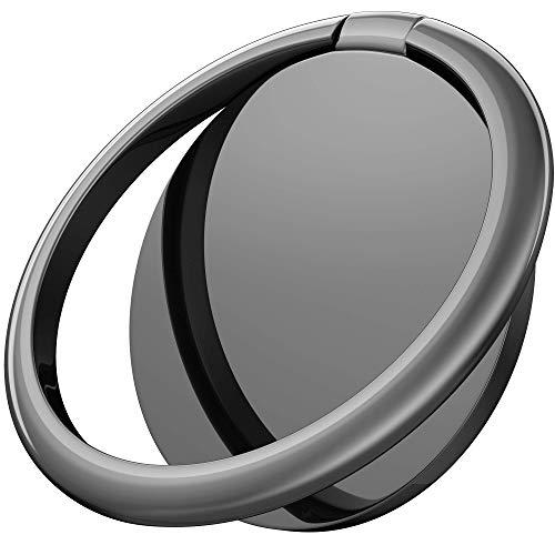 Conveasy Handy Fingerhalter - Universal 360° drehbare Handy Ring Halterung als Zubehör fürs Smartphone Ring Fingerhalterung Magnetisch fürs Handy passend zu iPhone Samsung Huawei etc. (Schwarz)