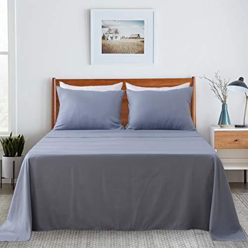 Aisbo - Juego de sábanas con Funda de Almohada, Cama Individual, 50 x 80 cm, SPA Azul