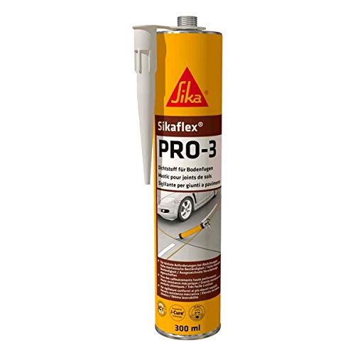 Sikaflex PRO 3, Mastic certifié pour joints de sols, 300ml, Gris béton