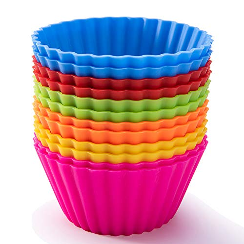 Large 3.54-inch Reusable Silicone Muffin Cups