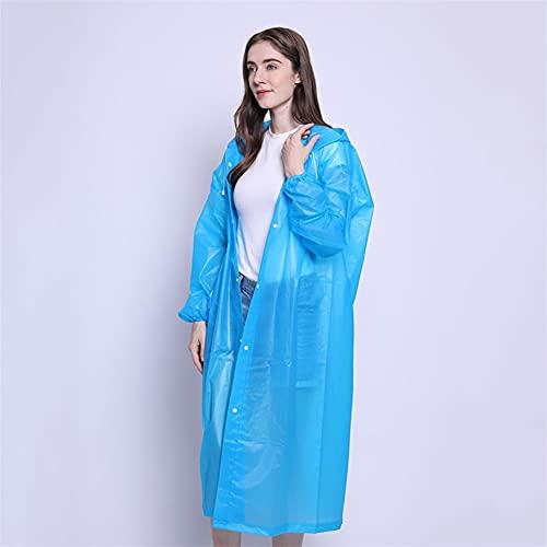 SASAU Lluvia Abrigo Moda Mujer Hombre Impermeable Espesado Impermeable Lluvia Poncho Abrigo Adulto Claro Transparente Camping Sudadera con Capucha Traje de Lluvia (Color : 5)