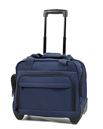 Members Essential On-Board Business Case Laptop Case on Wheels (Navy)